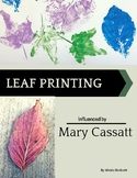 Leaf Printing Influenced by Mary Cassatt