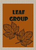 FREE- Leaf, Pumpkin, Acorn, and Pinecone Group cards