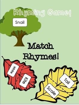 Leaf Rhyming Activity