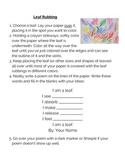 Leaf Rubbing and Poem- Photosynthesis