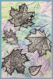 Leaf Rubbings and ZEN Designs for Autumn