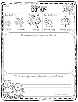Leaf Unit Science Experiments for K to Second Grade (K-2)