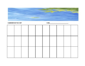 Leaf Seating Chart Template for the Music Classroom