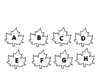 Leaf Sensory Bin Letter Match