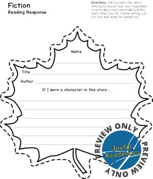 Leaf Shaped Reading Response Sheets