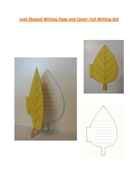 Shaped Writing Page and Cover (Leaf): Fall Writing Aid