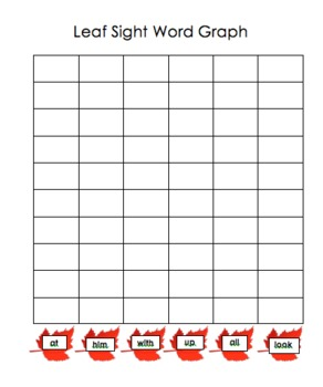 Leaf Sight Word Shake and Graph