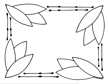 Leaf Sign  Print or Write your own Word for the center