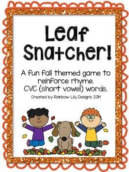 Leaf Snatcher CVC Rhyme Game