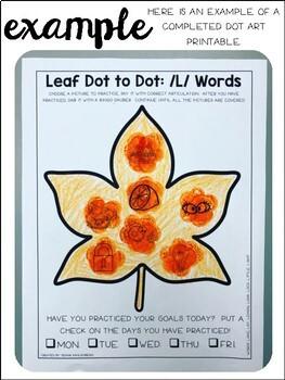 Leaf {Speech & Language Dot Art}