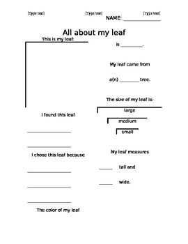 Leaf Study Stencil