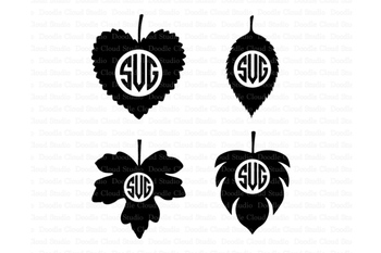Leaf SvG, Leaves SVG files for Silhouette Cameo and Cricut. Nature svg.