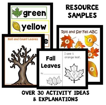 Leaf Theme Home Preschool Lesson Plan Pack