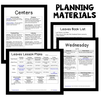 Leaf Theme Preschool Lesson Plans -Preschool Fall Activities