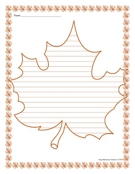 Leaf Writing Paper