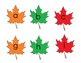 Leaf theme letters numbers quantities file folder flashcards