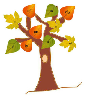 Leaf themed letter,number,sight word review