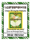Leafalapalooza Digital Paper - Commercial Use - Fun Leaf,