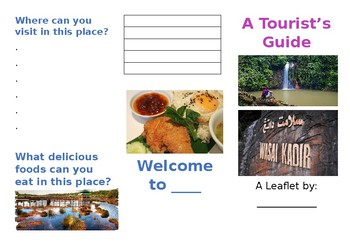 Leaflet about a place