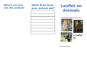 Leaflet about an animal