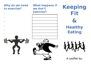 Leaflet on Keeping Fit and Healthy Eating