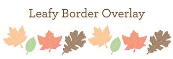 Leafy Border clip art overlay