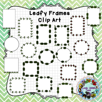 Leafy Frames Clip Art