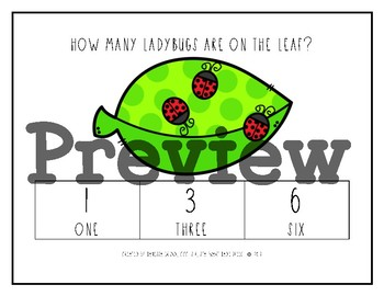 Leafy Ladybugs Math {Clip Card Counting 1-10 Game}