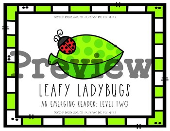 Leafy Ladybugs Math {Dual-Level Emerging Readers}