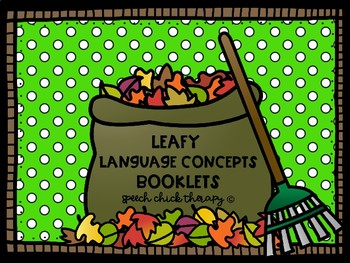 Leafy Language Concept Books for Speech Therapy