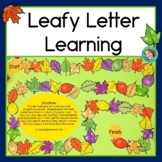 Leafy Letter Learning: Fall Alphabet activities with leaves