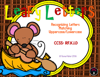 Leafy Letters Differentiated Fall Alphabet Center File Folder Game