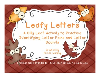 Leafy Letters a Letter Identification and Beginning Sound Activity