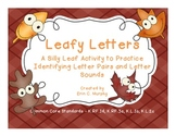 Leafy Letters a Letter Identification and Beginning Sound