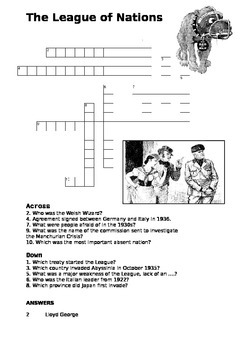League of Nations Crossword