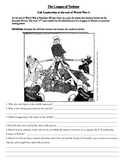 League of Nations political cartoon-primary source for U.S