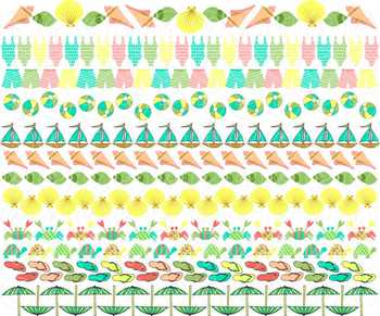 Leah Maria Beach Borders Clipart by Poppydreamz