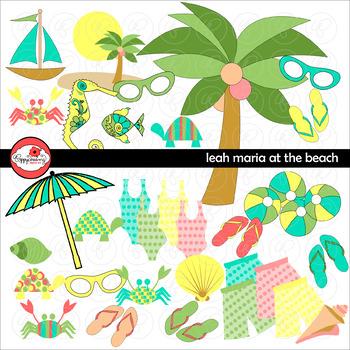 Leah Maria at the Beach Clipart by Poppydreamz