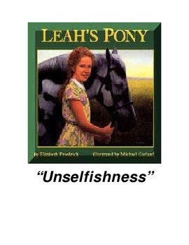 Leah's Pony Character Education Packet
