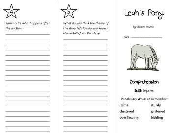 Leah's Pony Trifold - Treasures 4th Grade Unit 6 Week 1 (2011)