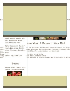 Lean Meats & Beans Handout