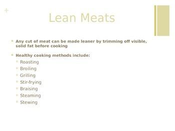 Lean Meats & Beans Presentation