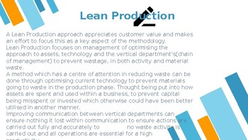 Lean Production - PowerPoint Slide
