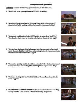 Lean on Me Film (1989) Study Guide Movie Packet