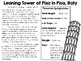 Leaning Tower of Pisa in Italy ~ Engineering the World ~ STEM Challenge