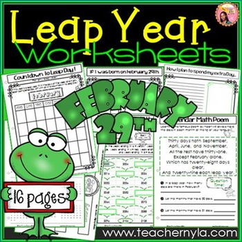 Leap Day / Leap Year Activities and worksheets