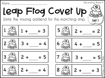 Missing Addends Worksheets and Game