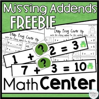 Missing Addends Cover Up Game-FREEBIE