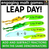 Leap Day Adding and Subtracting Fractions - Same Denominators