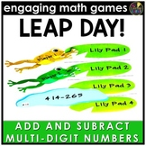 Leap Day Adding and Subtracting Multi-Digit Numbers